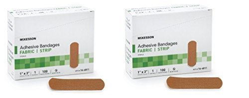 McKesson Performance Bandage Adhesive Fabric Strip, 100 Count (Pack of 2)… Adhesive Bandages
