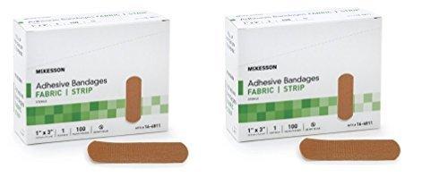 McKesson Performance Bandage Adhesive Fabric Strip, 100 Count (Pack of 2)… Adhesive Bandages