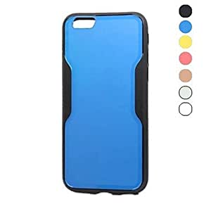 QHY Bicolor Design TPU Soft Case for iPhone 6(Assorted Colors) , Blue
