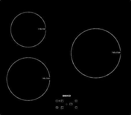 Beko HII 63400 AT - Placa De Inducción Hii63400At Con 3 Zonas De Cocción