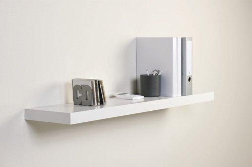 floating white shelf home design. Black Bedroom Furniture Sets. Home Design Ideas