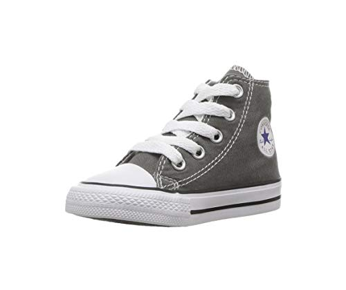 Converse Chuck Taylor All Star SP IN Hi Top Infants Shoes Charcoal 7j793 (10 Toddler) (All Star Converse For Baby Boy)