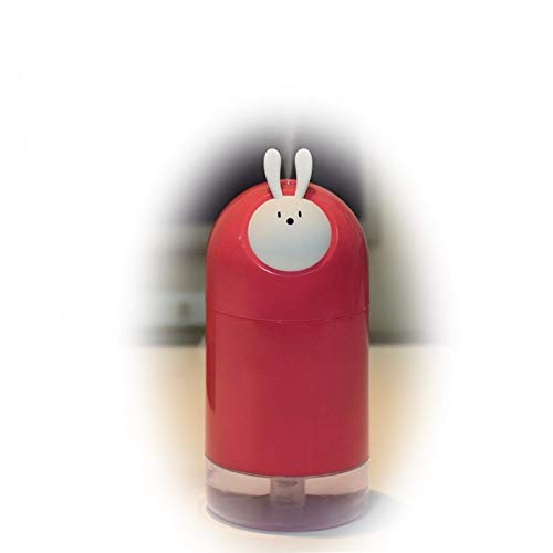 JUNFEI Animal Elf Humidifier 280mL Mini Cute Air Purifier Cartoon Desktop USB Portable Silent Atomizing Gift for Kids, Baby,Car, Home, Bedroom, Bedside,Office and Travel (RED) by JUNFEI