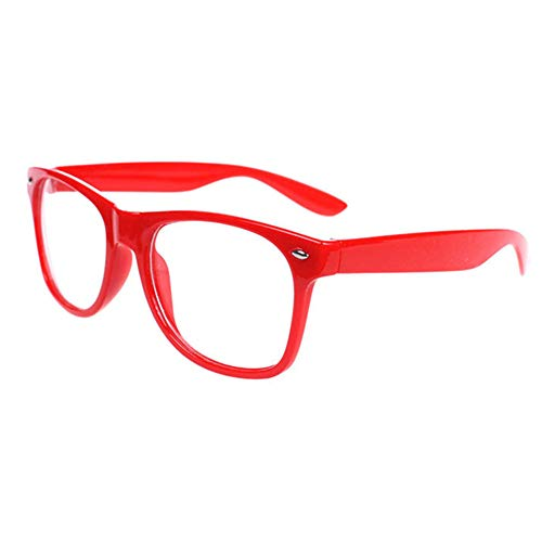 FancyG Classic Retro Fashion Style Clear Lenses Glasses Frame Eyewear - Red