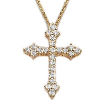 Ramona Singer 24K Gold/Sterling Cross Necklace