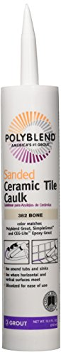 Patching Tile Ceramic (CUSTOM BLDG PRODUCTS PC38210S-6 10.5-Ounce Bone Tile Caulk)