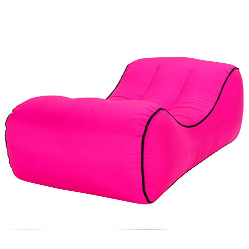 ErYao Inflatable Lounger - Best Air Lounger for Travelling, Camping, Hiking - Ideal Inflatable Couch for Pool and Beach Parties - Perfect Air Chair for Picnics or Festivals (Hot Pink, L) (Sofa Lakeside Shops)