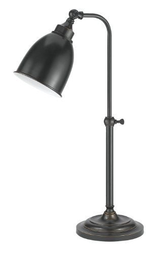 Cal Lighting BO-2032TB-DB Table Lamp with Metal Shades, Dark Bronze Finish Bronze Desk Lamp