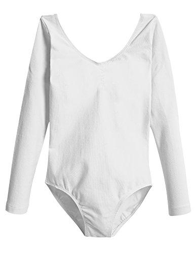 White Long Sleeve Leotard - 3