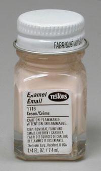 TES1116PT Cream Enamel Paint .25oz Bottle by Testors (0.25 Ounce Testors Paint)