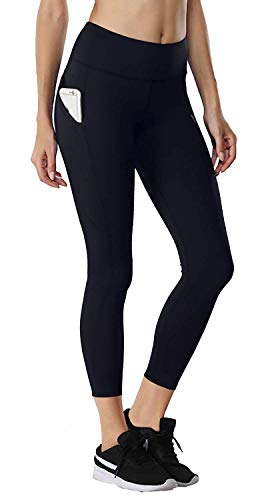 46c095c6b FIRM ABS Womens Crop Gym Pants Workout Running Leggings w Side Pockets  Black S