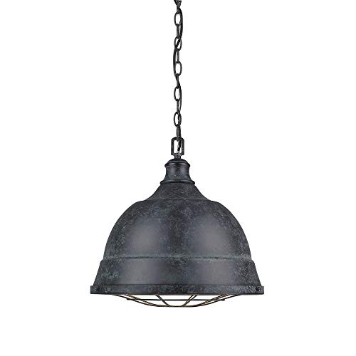 Golden Lighting 7312-L BP Two Light Pendant Black