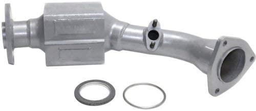 EvanFischer REPI960302 Silver Powder-Coated Catalytic Converter with Heat Shield