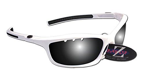 RayZor Lunettes de cyclisme pour Sport Lunettes de soleil, avec un système anti-goutte fumé Effet miroir anti-reflet Objectif