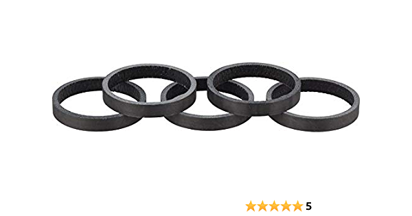 Ritchey WCS Carbon Headset Spacers 1-1//8 5mm Black 5-pack