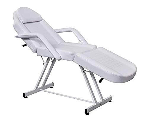 Professional Facial Table Bed Chair White Color for Beauty Salon Facial Massage Therapy Treatment Use