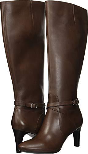 Lauren High Heels (Lauren Ralph Lauren Women's Elberta Fashion Boot, Dark Brown, 6.5 B US)