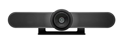 Logitech MeetUp Video Conferencing System, Ultra HD 4K/1080p/720p, 3 Microphones/Adjustable Speakers