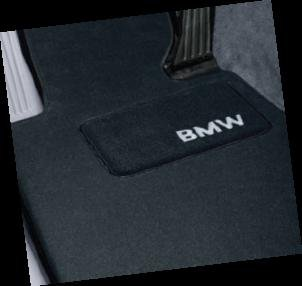 BMW 1 Series Coupe Genuine Factory OEM 82110439368 Black Carpet Floor Mats 2008 - 2012 (complete set of 4 mats)