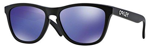 Oakley Frogskin Matte Black Violet Iridium Sunglasses 24-298 + SD Gift + - Oakley Iridium Black Frogskin