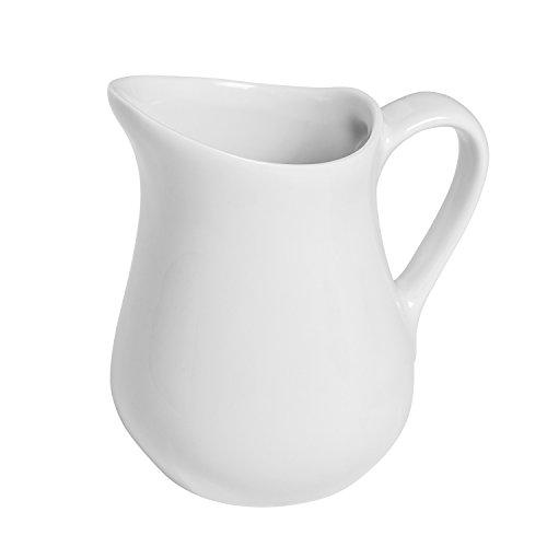 (Honey-Can-Do 8052 Porcelain Pitcher, White, 4.25-Ounces)