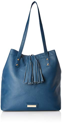 Leatherette Womens Tote Bag - Lica Pezo Blue Women Tote (Blue)