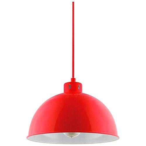 Sunlite CF/PD/S/R Sona Residential Ceiling Pendant Light Fixtures with Medium (E26) Base, Red (Pendant Red Light)