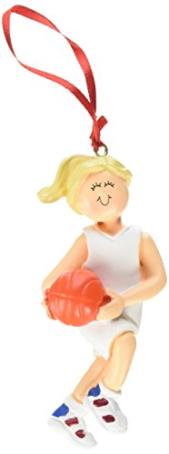 Ornament Central OC-101-FBL Female Blonde Basketball