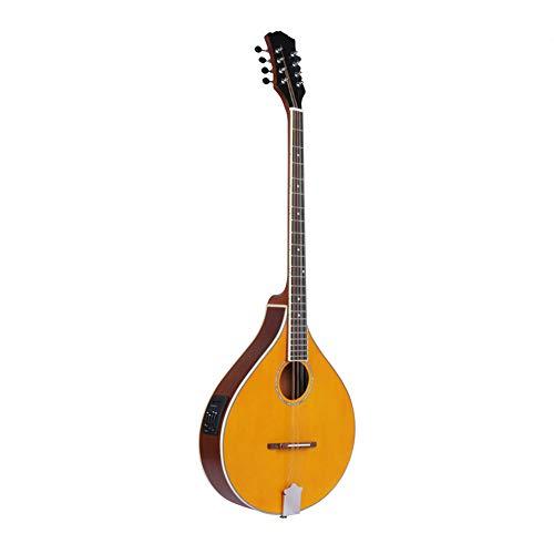 - MG.QING Mandolin 8 String Spruce Electroacoustic Mandolin Almond Orange Stringed Instrument