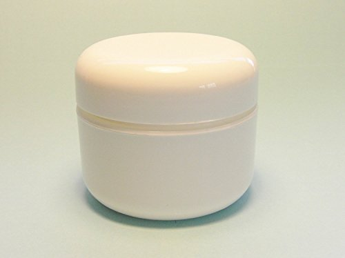 Containers Lid Dome (2 Oz White Double Wall Plastic Jar with Dome Lid (12 Per Bag))