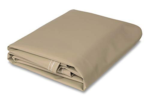 CCS CHICAGO CANVAS & SUPPLY 10' x 12' Heavy Duty Tan Vinyl Tarp (Duty Heavy Tarp Canvas Tan)