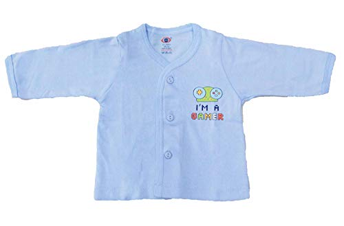 mittenbooty® Presents New Born Baby Soft Cotton Full Sleeves Front Open Vest Kids Jabla Pack of 3