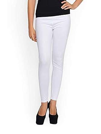 Ashford White Slim Fit Leggings Pant For Women