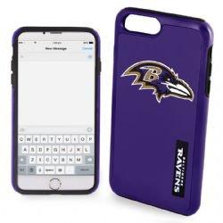 FOCO Baltimore Ravens Impact Dual Hybrid Ai7/8 Cover - - Baltimore Black Case Football Ravens