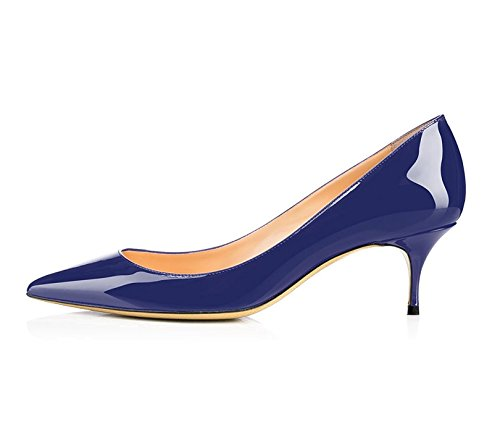 Soireelady da Scarpe 6 Blue Tacco Tacco Scarpe col donna Gattino 5CM 5wrUqr0WRZ