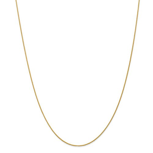 Chain Style Spiga (Wheat) Necklace Solid 0.95 mm 16 in 14K Yellow Gold .95mm Parisian Wheat Chain