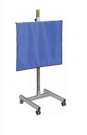 X-Ray Mobile Shield - Porta-Shield Solid Panel, 5-Caster Base, 0.5mm Protection, Overall 24''W x 48''H