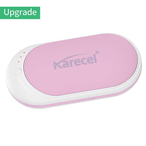 Karecel Hand Warmers Rechargeable, Electric Hand Warmer Reusable 5200mAh Powerbank Portable USB Heater Battery Hot Pocket Warmer Heat Handwarmers, Cool Gifts for Men and Women in Cold Winter (Warmer Hand Women)