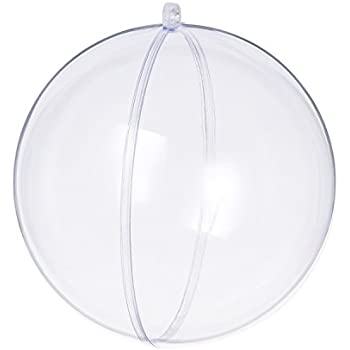 Seekingtag Clear Plastic Fillable Ornaments Ball - 100mm Pack of 10 Individual Ornaments