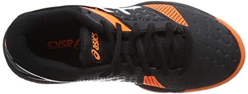 ASICS Handball Boys Shoes Gel-Blast 7 Stability Non Marking Sole Kids C643Y-400 US 4 Black//Orange