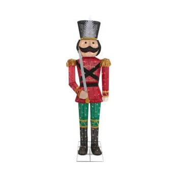 Nutcracker Soldier Christmas Lighted Durable Tinsel Porch ...   Lighted Nutcracker Soldier