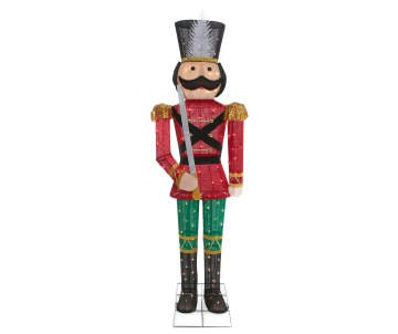 5 foot Winter Wonder Lane Light-Up Christmas Soldier Nutcracker by BL Stores