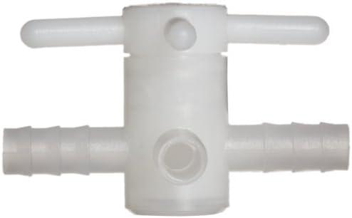 F30888-0008 Bel-Art Three-Way Fluoroplastic Stopcock for 8mm Tubing; 6mm Bore