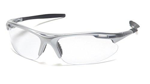 Pyramex Safety Avante Eyewear, Silver Frame, Clear Lens
