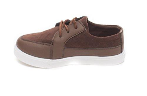 Soho Schoenen Jongens Casual Veter Suede Loafer Sneaker Bruin