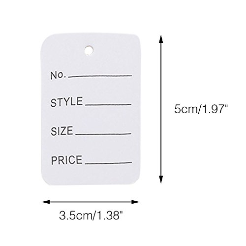 Price Tags,Clothes Tags,Clothing Tags,Merchandise Marking Tags,White Paper Price Tag Labels,Box of 1000