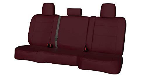 Rear SEAT: ShearComfort Custom Waterproof Cordura Seat Covers for Pontiac Wave (2004-2010) in Burgundy for 60/40 Split Back Solid Bottom w/Adjustable Headrests ()