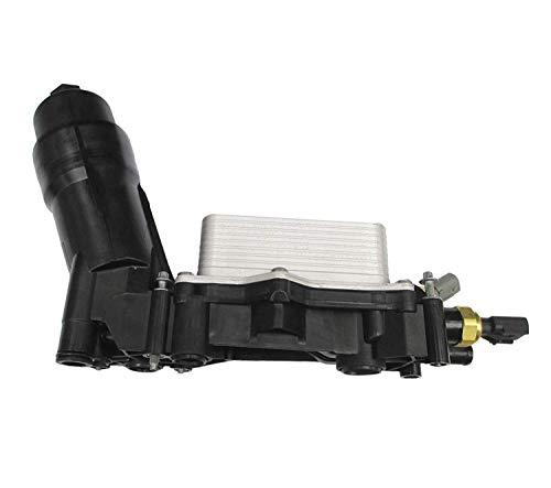 Engine Oil Filter Cooler Housing Assembly Complete Kit Includes Temp Sensors, Bypass Valve, Spring, Filter & Gaskets 68105583AF Fits All 2014-2017 Dodge Chrysler Jeep Models with 3.6L V6 - Filter Engine Coolant