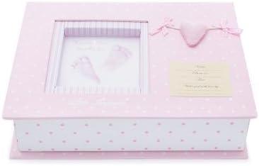 Set Huellas Bebé Corazón en Rosa de BebeDeParis- para guardar los recuerdos del bebé: Amazon.es: Bebé