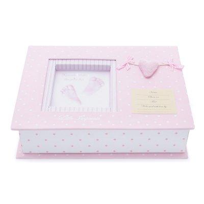 Set Huellas Bebé Corazón en Rosa de BebeDeParis- para guardar los recuerdos del bebé